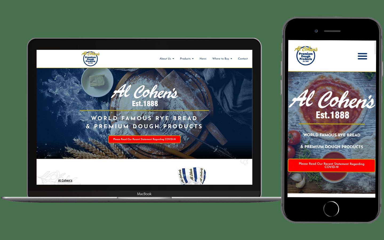 Al Cohens Website Preview