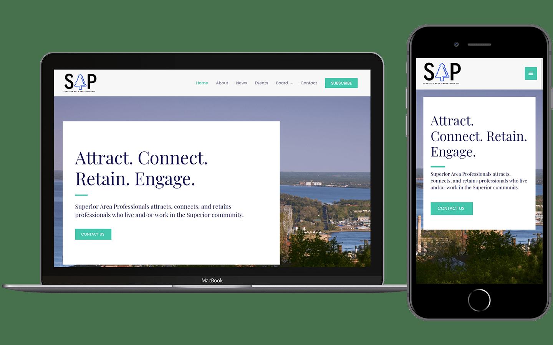 Superior Area Professionals Website Preview