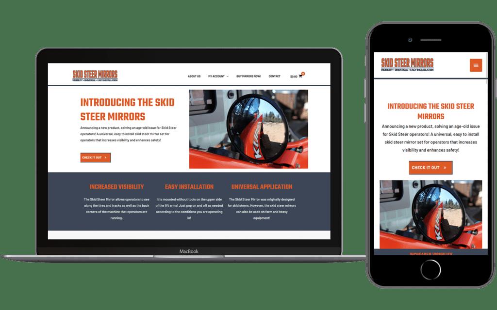Skid Steer Mirror Website Preview